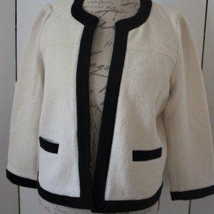 Ann Taylor Winter White Sweater/Jacket Sz Petite L